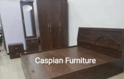 New bedroom set in wallnut finish