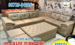 new model corner sofa with matching center table