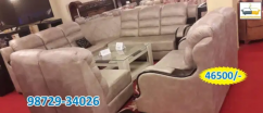 new brown leather sofa set with center table