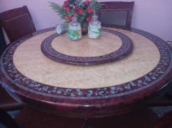 An Antique and unique designed 6 seater Marble Dining Table with rotating top.