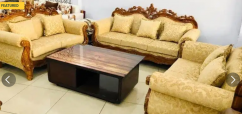 New 7 seater in teak  polish carved design