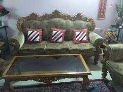 Beautiful teak wood sofa for sale