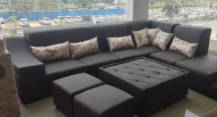 awesome L shape sofa with center table
