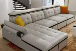 fascinating 9 seater sofa with center table