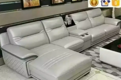 attractive 9 seater sofa with center table