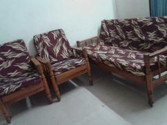Teak wood Five Seater Sofa Set