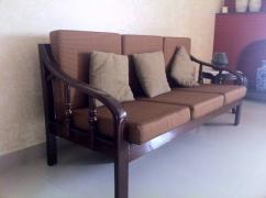 5 seater teakwood sofa