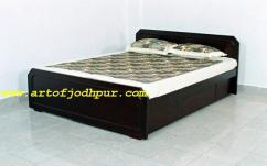 Jodhpur wood handicrafts double beds with storage