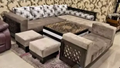 AMAZING L shape sofa set with center table