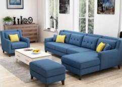 Brand new L shape sofa set with center table & single chair