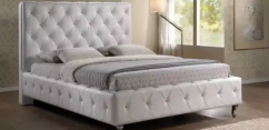 new king size white full culting bed without matters