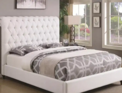 Brand new modern King size white bed