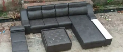 Modern look L shape sofa set with table & couch