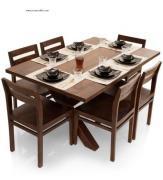 Clovis-Barcelona Six Seater Dining Set in Provincial Teak