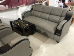 Very attractive five seater sofa set with 5 years