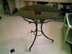 Glass Top, Wrought Iron table