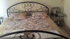 King size bed with 2 mattresses & Side table