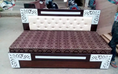 Brand new designer wooden diwan cum bed with box with bonded mattress