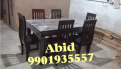 Latest design six chairs teak wood dining table with 5 years warranty