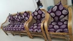 Cane sofa 3 set and 2 single sofa