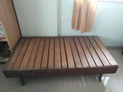 Wooden Diwan with mattress