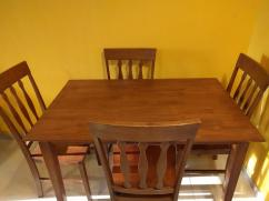 New Solid Teak Wood 4 Seater Dining Table and Chairs