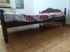 Queen size cot with mattress