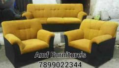 Full comfatable fabric sofa set