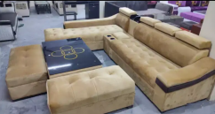 Greay L shape sectional sofa