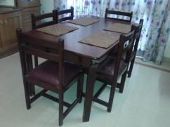 6 Seater Teakwood Dining Table in good condition