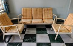 5-Seater Wooden Sofa Set with Centre Table