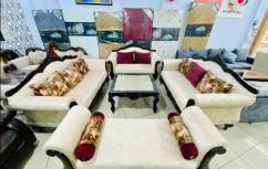 High quality 7 seater saghwaan sofa set