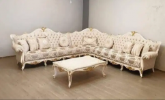 Brand new 7 seater sofa set with table of sagvaan wood at best price