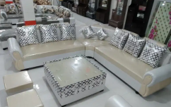 BRAND NEW HEAVY 9 SEATER CORNER SOFA SET