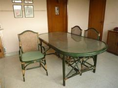 8 seater cane dining set for sale