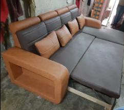 leatherette Sofa cum bed