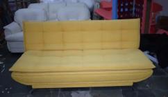 Yellow Fabric 3 seat Sofa cum bed