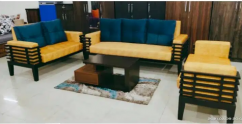 5 seater Teakwood Sofa Set