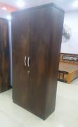 New wooden finish 2 door wardrobe