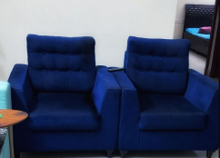 2 Single Seater Sofa Accent Chair