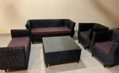 Cane sofa set 9 seater