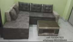 hydraulic L sofa cum bed at cost rate