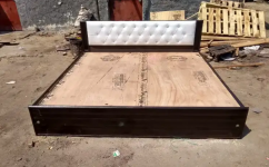 New wooden low height double bed without box