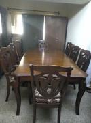 Hand made Malaysian wood 8 seater dining table