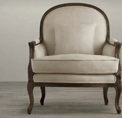 Carving chair look with 5 years of warranty
