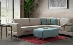 Vigo fabric L shape sofa
