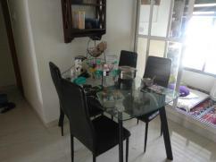 Sleek modern dining table