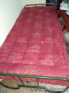 Single steel cot with new bed
