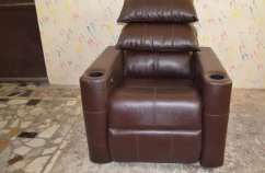 Home Theater Motorized Recliners, Italian Leather Recliner Sofa Chairs