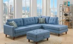 Blue L shape sofa